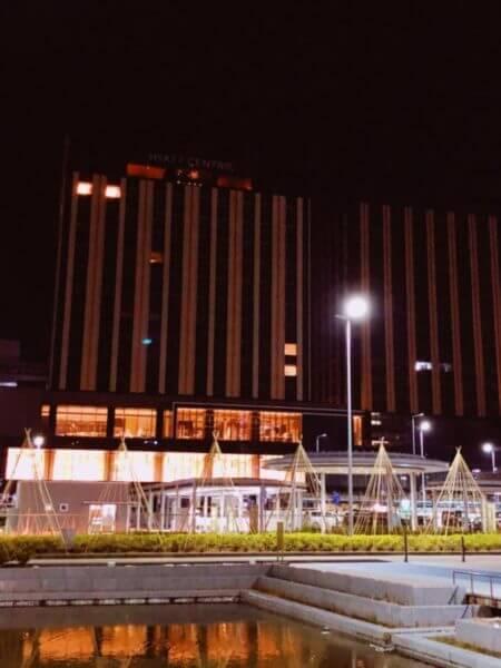 夜の工事中ハイアット金沢