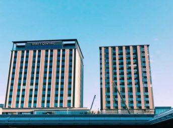 工事中のハイアットセントリック金沢、ハイアットハウス金沢