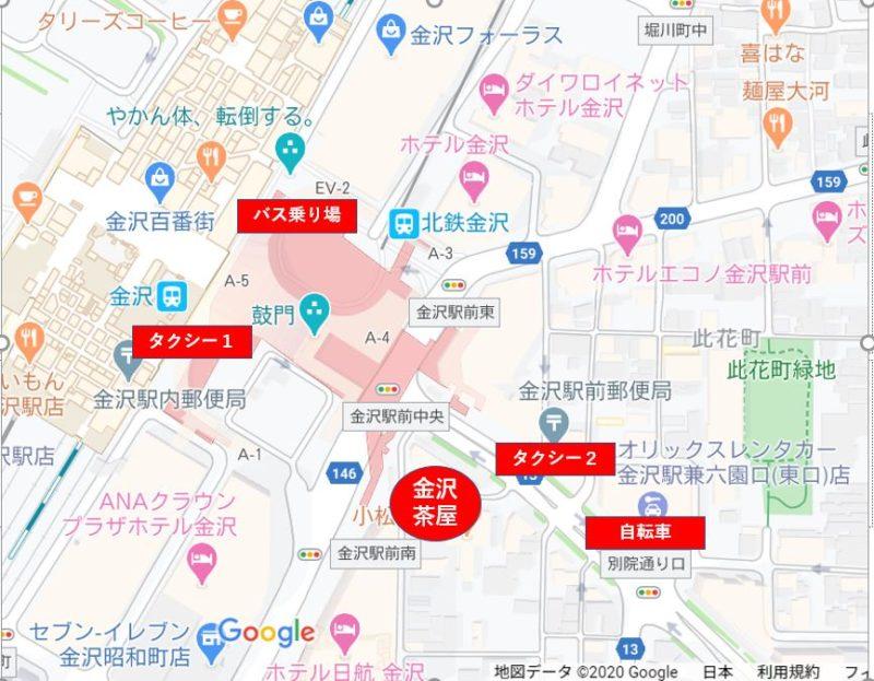 金沢茶屋MAP