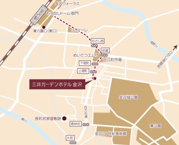 三井ガーデンホテル周辺の地図