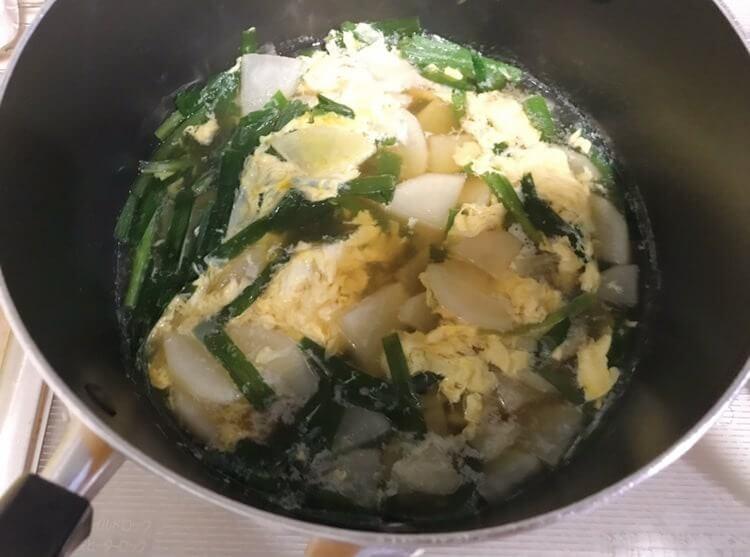 ほっこり大根の中華スープが完成