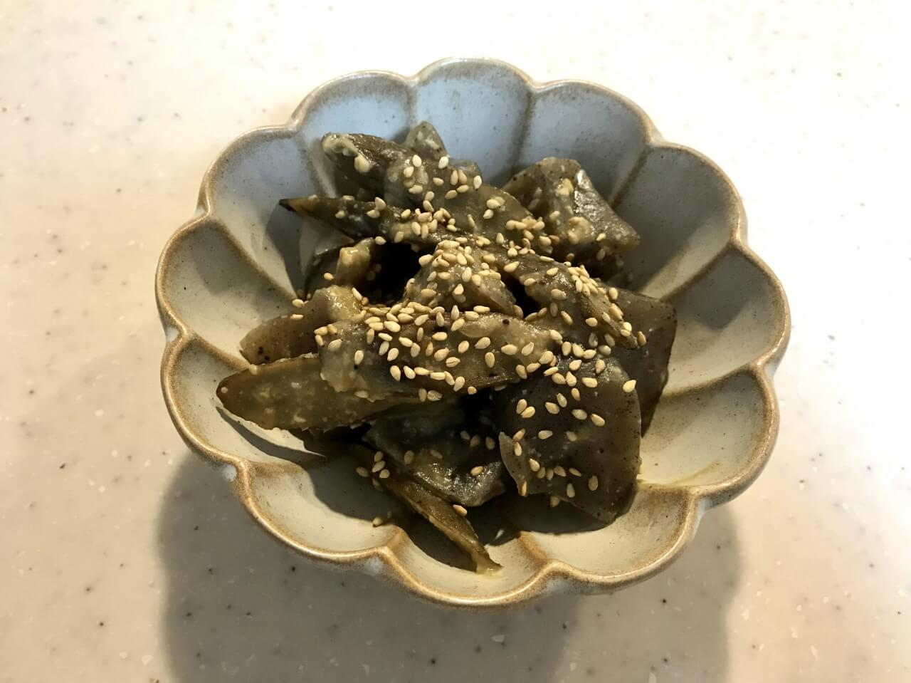 ごぼうとこんにゃくの味噌煮